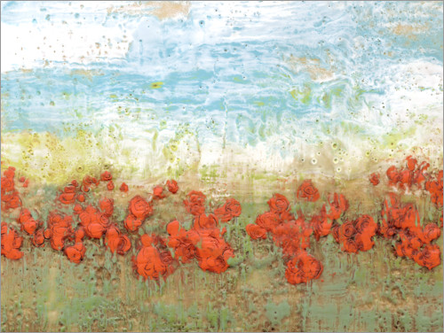Plakat Coral Poppies I