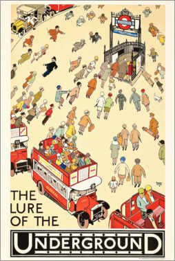 Galleriprint  The Lure of the Underground - Alfred Leete