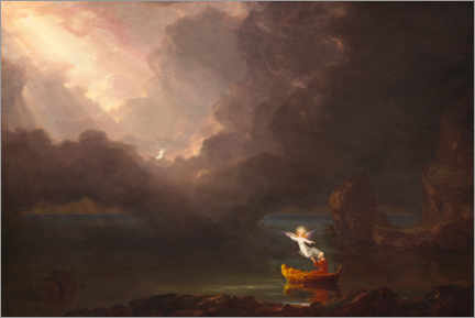 Akrylbilde  The journey of life: old age - Thomas Cole