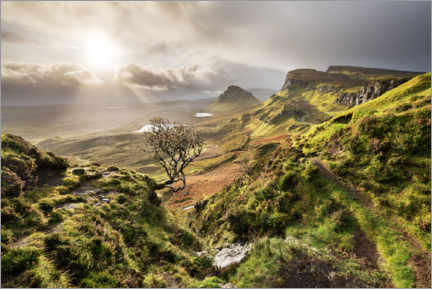 Akrylbilde  Scottish highlands in stormy weather - The Wandering Soul
