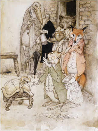 Galleriprint  The hare and the turtle - Arthur Rackham