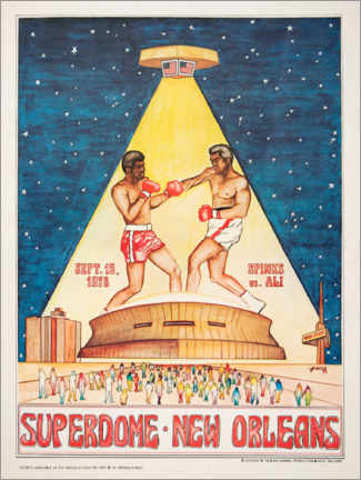 Akrylbilde  Boxing tournament in the Superdome - Entertainment Collection