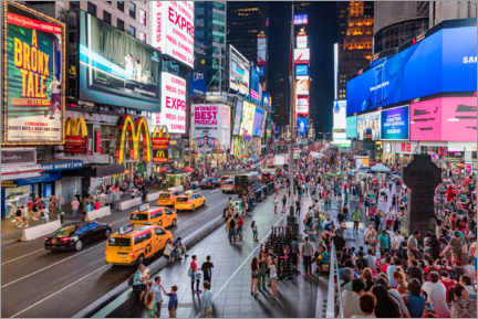 Akrylbilde  Times Square in New York - Mike Centioli