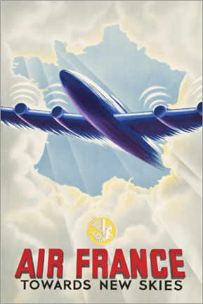 Aluminiumsbilde  Air France - Towards New Skies - Travel Collection