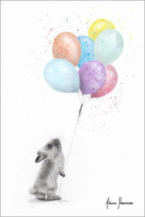 Plakat The Bunny and The Balloons