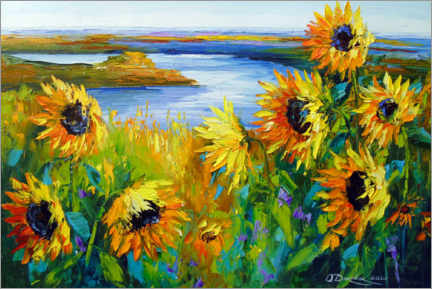 Galleriprint  Sunflowers on the river - Olha Darchuk