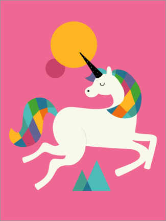 Lerretsbilde  To Be A Unicorn - Andy Westface