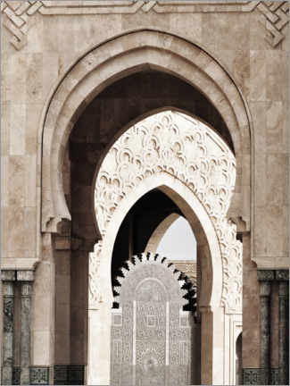 Lerretsbilde  Arches of the Hassan II Mosque in Morocco - Art Couture
