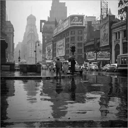 Plakat Times Square on a rainy day, 1943