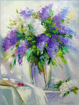 Plakat Bouquet of lilac in a vase