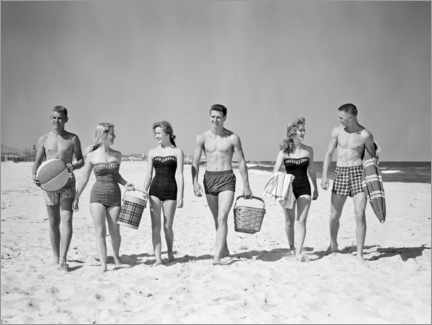 Plakat On the beach in the 50s