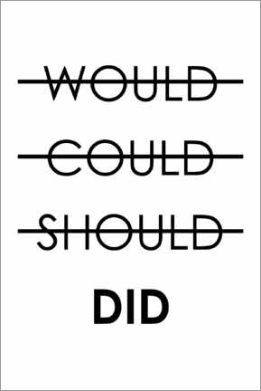 Aluminiumsbilde  Would, could, should, do (English) - Typobox