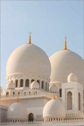 Plakat The Sheikh Zayed Mosque in Abu Dhabi