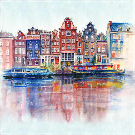 Akrylbilde  The canals of Amsterdam