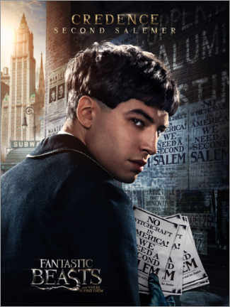 Plakat  Fantastic Beasts and Where to Find Them - Credence Barebone