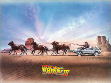 Plakat  Back to the future III - Carriage