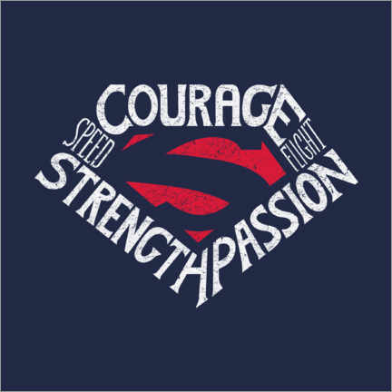 Plakat  Courage Strength Passion