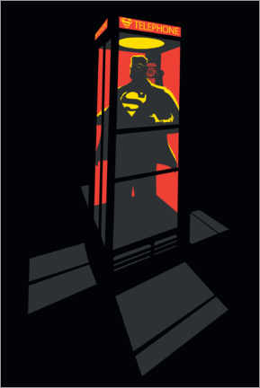 Plakat  Superman Phone Booth - red