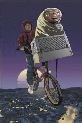 Plakat  E.T. - Flying Bicycle
