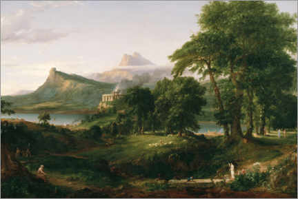 Akrylbilde  The Course of Empire The Arcadian or Pastoral State - Thomas Cole