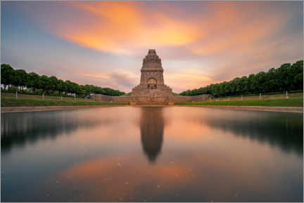 Akrylbilde  Monument to the Battle of the Nations at sunset - Andreas Vitting