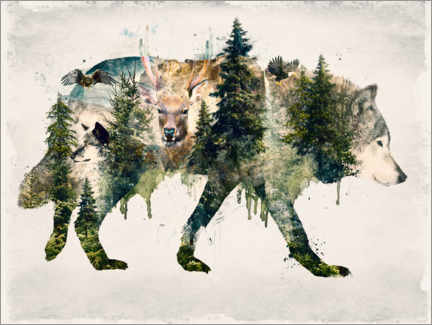 Plakat Walk with wolves
