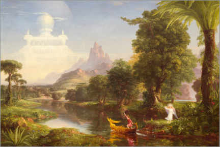 Akrylbilde  The journey of life, the youth - Thomas Cole