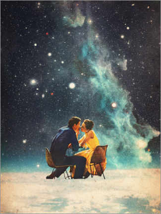 Akrylbilde  I'll Take you to the Stars for a second Date - Frank Moth
