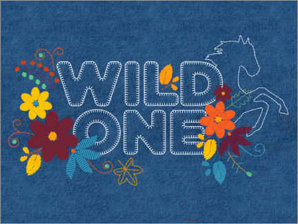 Plakat  Wild one embroidery
