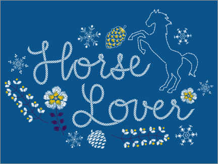 Plakat  Horse lover embroidery