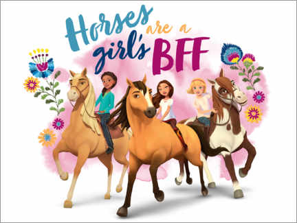 Plakat  Horses are a girl's BFF