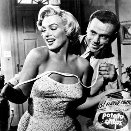 Akrylbilde  The Seven Year Itch - Potato Chips - Celebrity Collection