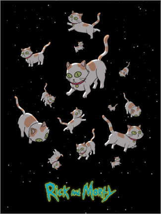 Akrylbilde  Rick and Morty - Space Cats