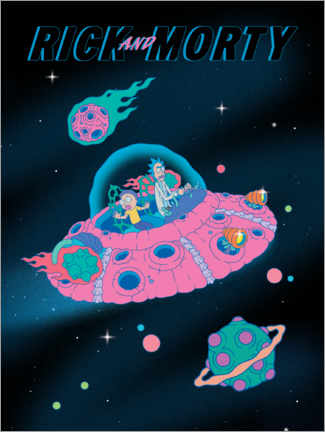 Akrylbilde  Rick and Morty - Space Ship