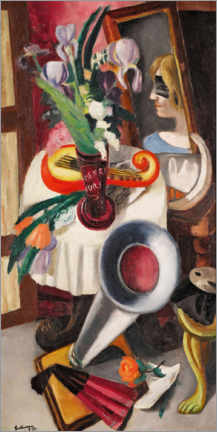 Galleriprint  Still life with gramophone and irises - Max Beckmann