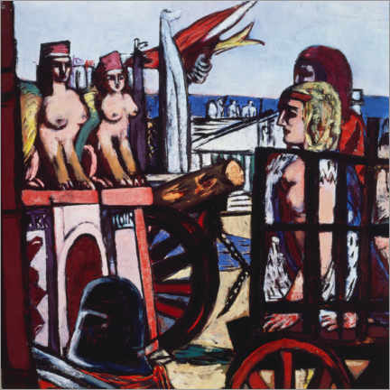 Galleriprint  Removal of the sphinxes - Max Beckmann