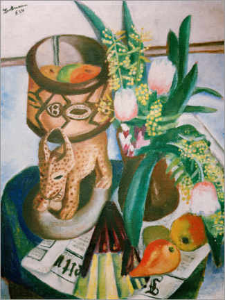 Plakat  Still life with African plastic - Max Beckmann