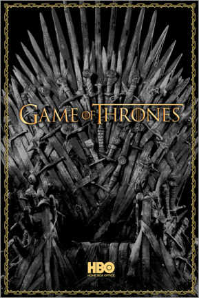 Plakat  Game of Thrones - The Iron Throne - gold