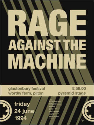 Plakat Rage Against the Machine Concert Poster