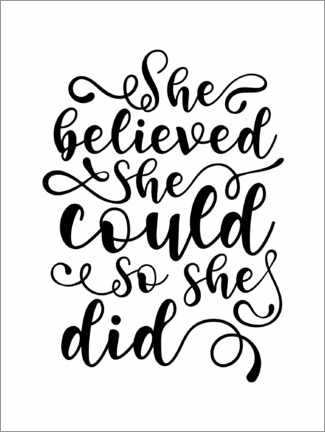 Plakat  She Believed She Could - TAlex