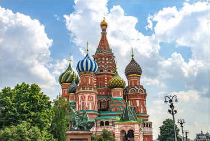 Selvklebende plakat  St. Basil's Cathedral in Moscow III - HADYPHOTO