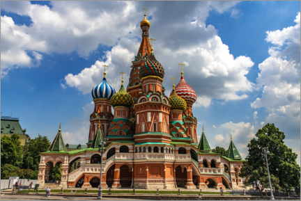 Aluminiumsbilde  St. Basil's Cathedral in Moscow II - HADYPHOTO