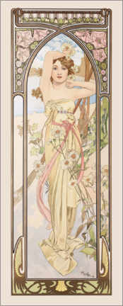 Akrylbilde  Times of the Day - Brightness of Day - Alfons Mucha