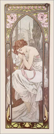 Akrylbilde  Times of the Day - Night's Rest - Alfons Mucha