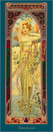 Lerretsbilde  Times of the Day - Brightness of Day - Alfons Mucha