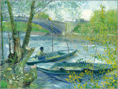 Akrylbilde  Angler and boat at the Pont de Clichy - Vincent van Gogh