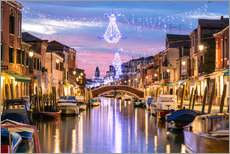 Galleriprint  Canal in Venice at Christmas - Matteo Colombo