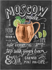 Galleriprint  Moscow Mule oppskrift (engelsk) - Lily & Val