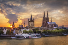 Galleriprint  Cologne Cathedral and Great St Martin - Jens Korte