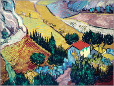 Galleriprint  Landscape with House and Ploughman - Vincent van Gogh